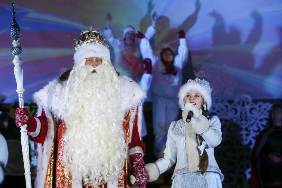 Во время празднования дня рождения Деда Мороза в резиденции волшебника в Великом Устюге. Владимир Гердо/ТАСС
