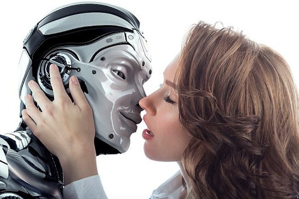 Живой секс муж робот видео мужчина
