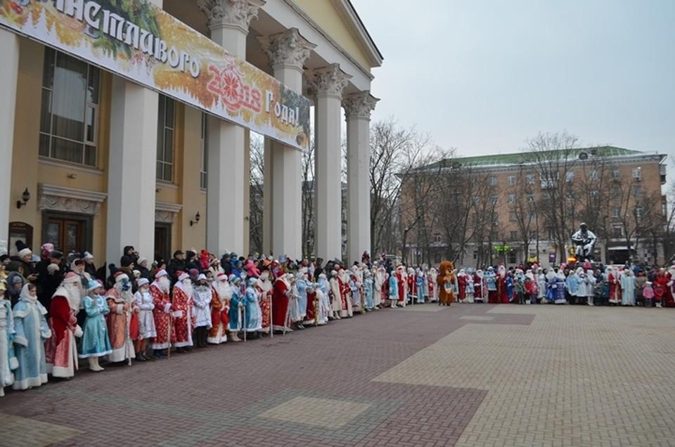 Парад Дедов Морозов в Белгорода