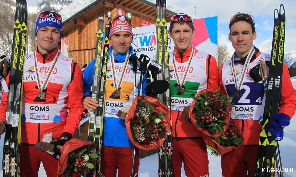 Россияне — третьи в эстафете на юниорском ЧМ по лыжным гонкам