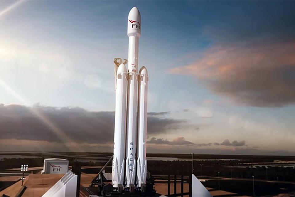 Ракета Falcon Heavy создана на базе Falcon 9