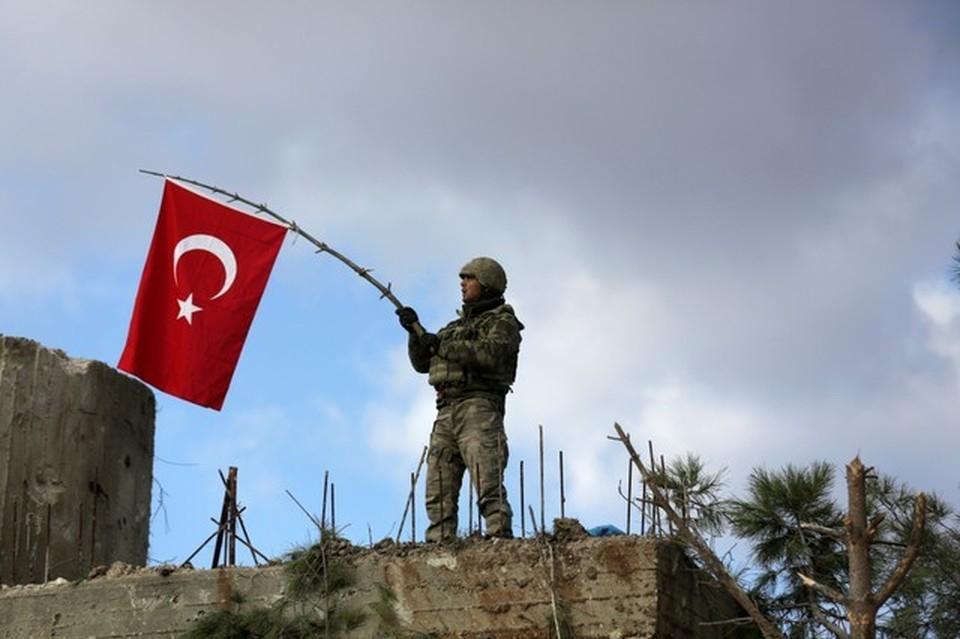 Турецкий солдат в Африне