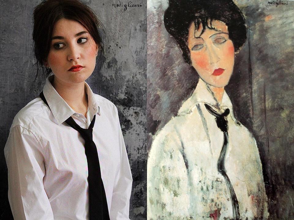 «Дама с черным галстуком» была написана в 1917 году. Фото: музей Фаберже.