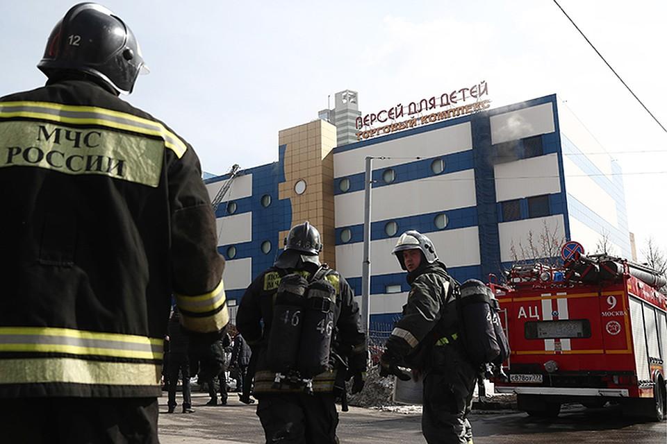 В здании торгового центра на Малой Семеновской, дом 28, строение 19,  произошел пожар bfe81e4b91b