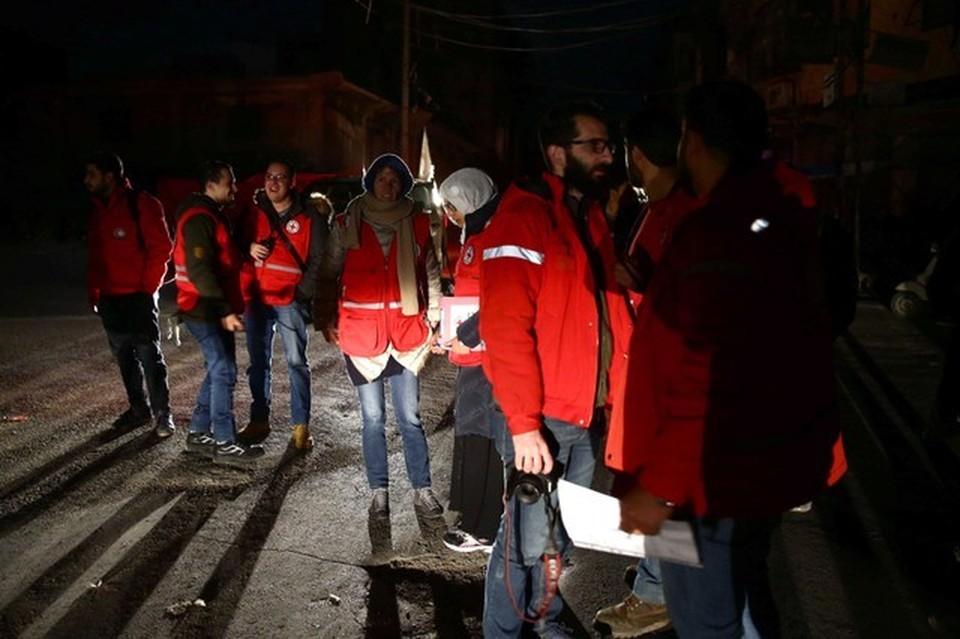 Волонтеры Красного креста в Сирии