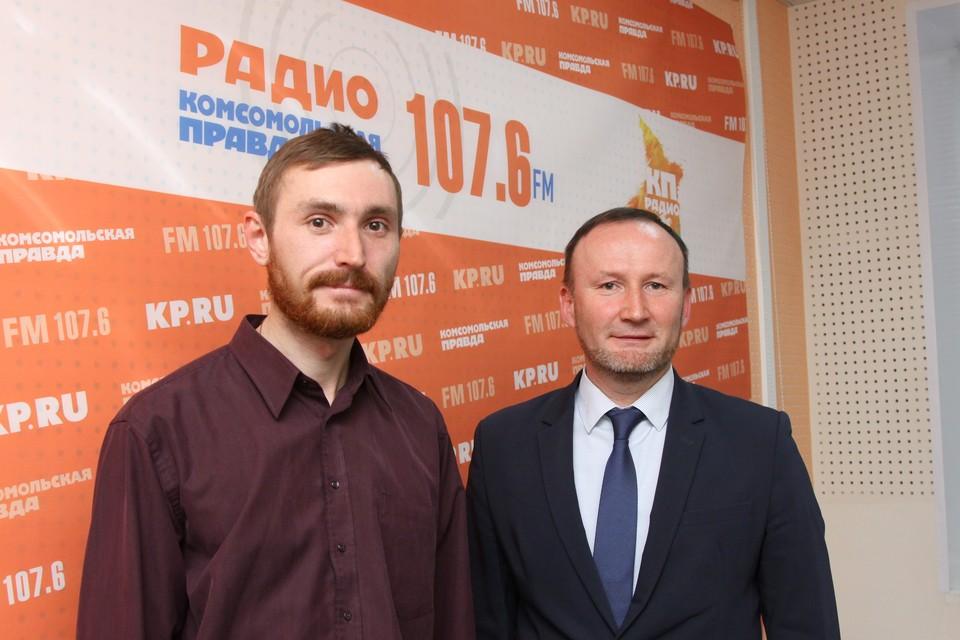 Максим Блинов, историк и Юрий Перевозчиков, руководитель Агентства по государственной охране объектов культурного наследия УР