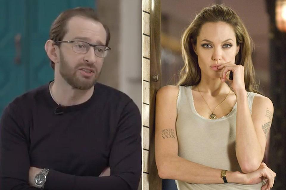 О поцелуе с Джоли Константин Хабенский рассказал в интервью видеоблогеру Юрию Дудю. Фото: кадр видео.
