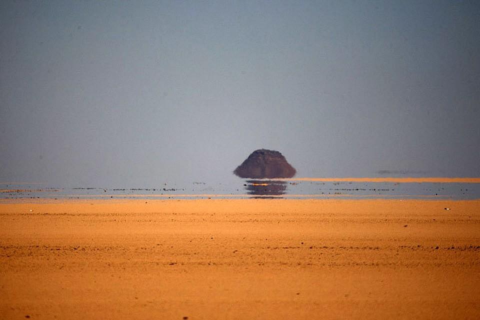 мираж фото в пустыне