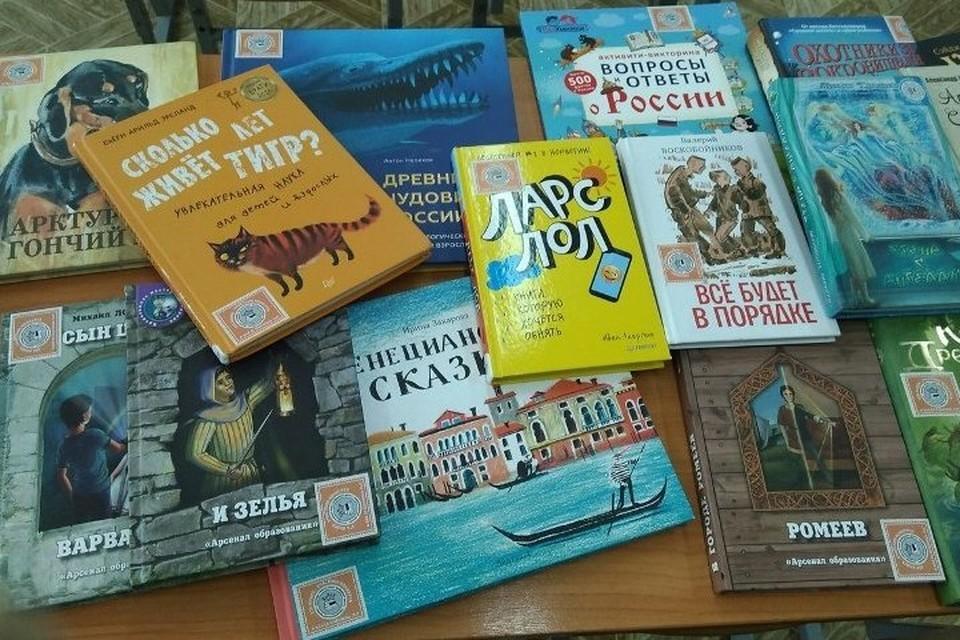 Школа получила около 90 новых книг российских издательств