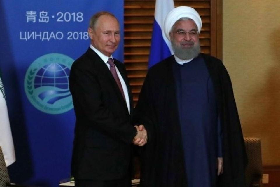 Владимир Путин и Хасан Роухани. Фото: пресс-служба Кремля