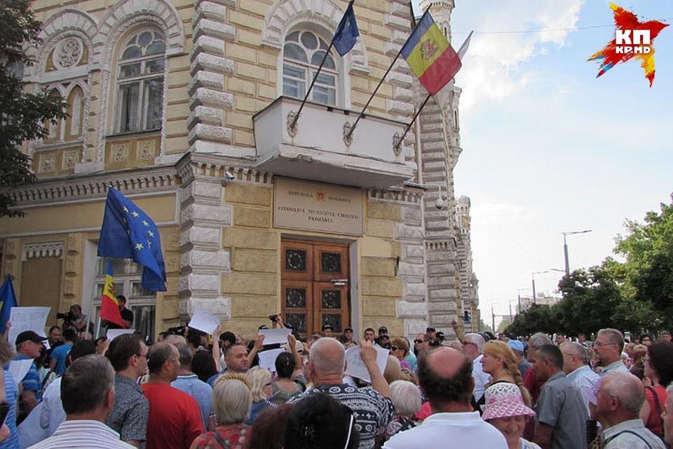 В Кишиневе уже проходили протесты из-за непризнания итогов выборов.