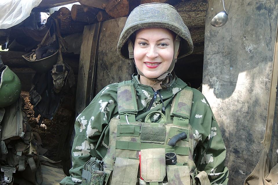 Наш спецкор Дарья Асламова на передовой позиции «Туман»
