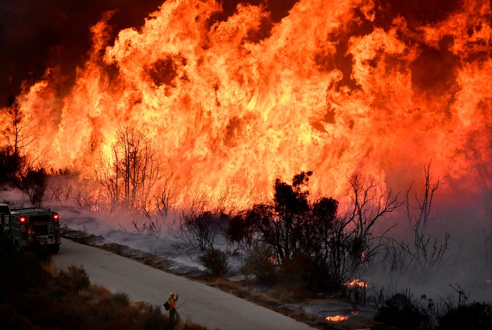 Около 3200 человек эвакуированы из-за лесного пожара, вспыхнувшего на юго-западе США