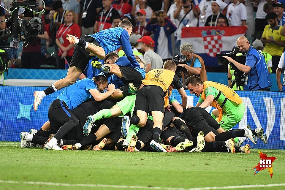 Сборная Хорватии победила Россию в четвертьфинале ЧМ-2018.