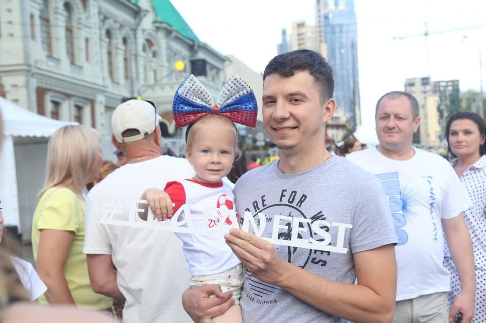 За матчем Россия - Хорватия Ярослав с дочкой наблюдали с VIP-трибуны. Фото: Оргкомитет 2018