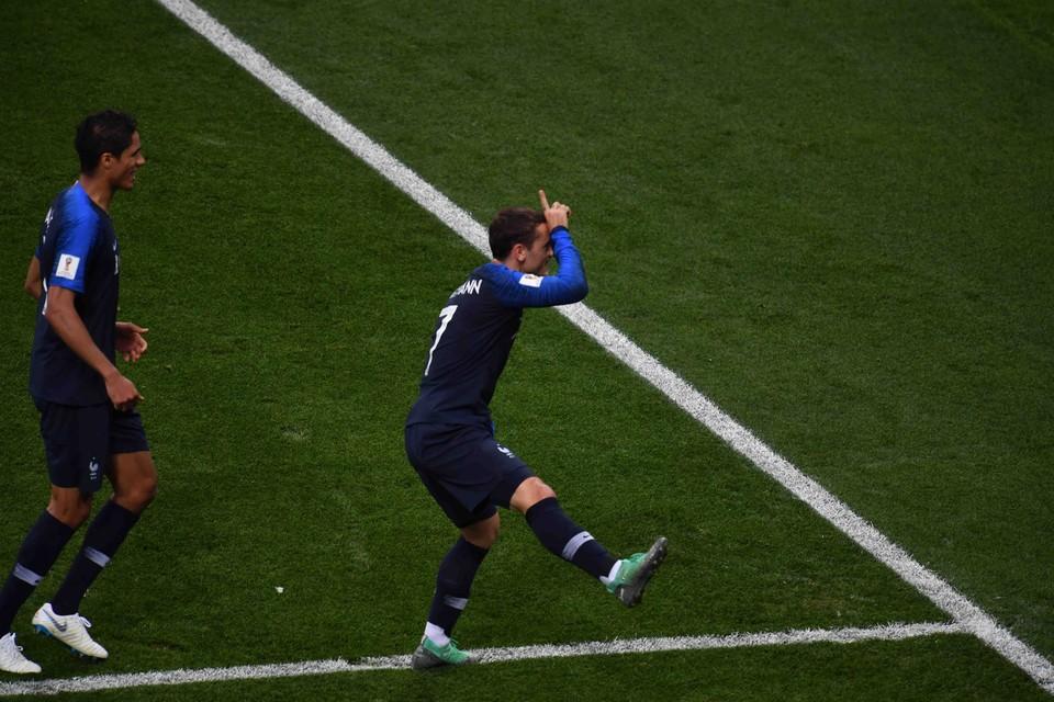 Антуан Гризманн - автор одного из голов команды Франции в финале чемпионата мира по футболу 2018.
