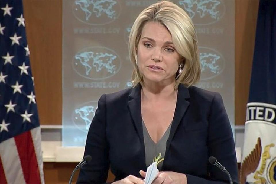 Руководитель пресс-службы госдепартамента США Хезер Науэрт