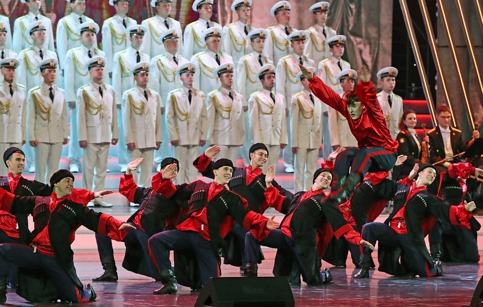 Ансамбль имени Александрова. Фото: Вячеслав Прокофьев/ТАСС