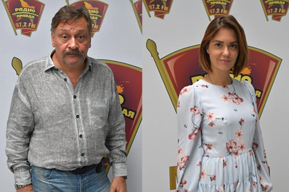 Дмитрий Назаров и Агата Муцениеце пришли в гости на Радио «Комсомольская правда»