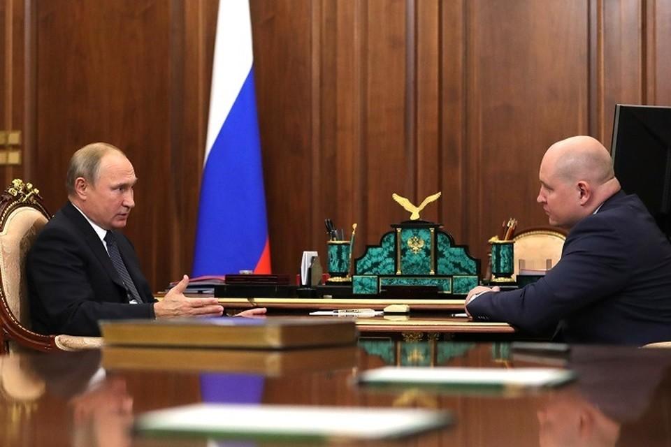 Владимир Путин поручил Михаилу Развожаеву возглавить Хакасию. Фото: пресс-служба президента РФ