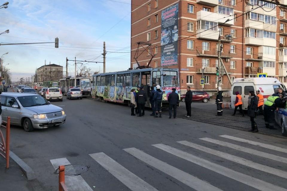 Ижевск бабушка попала под трамвай