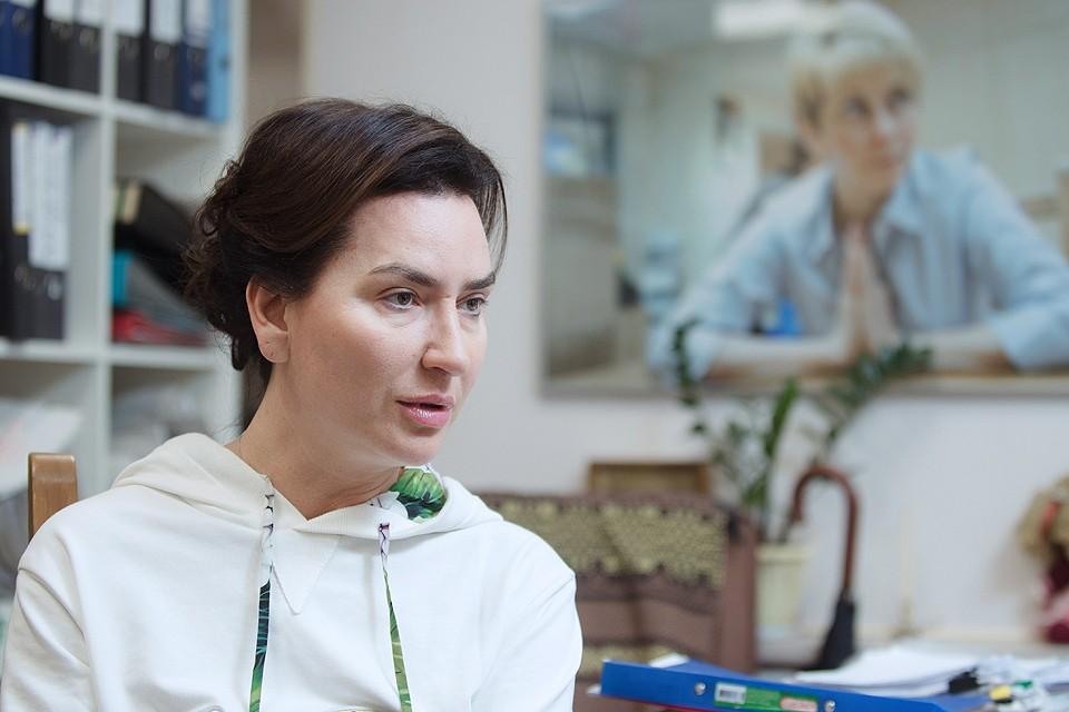 Ксения Соколова во время интервью агентству ТАСС, 2017 год. ФОТО Стоян Васев/ТАСС