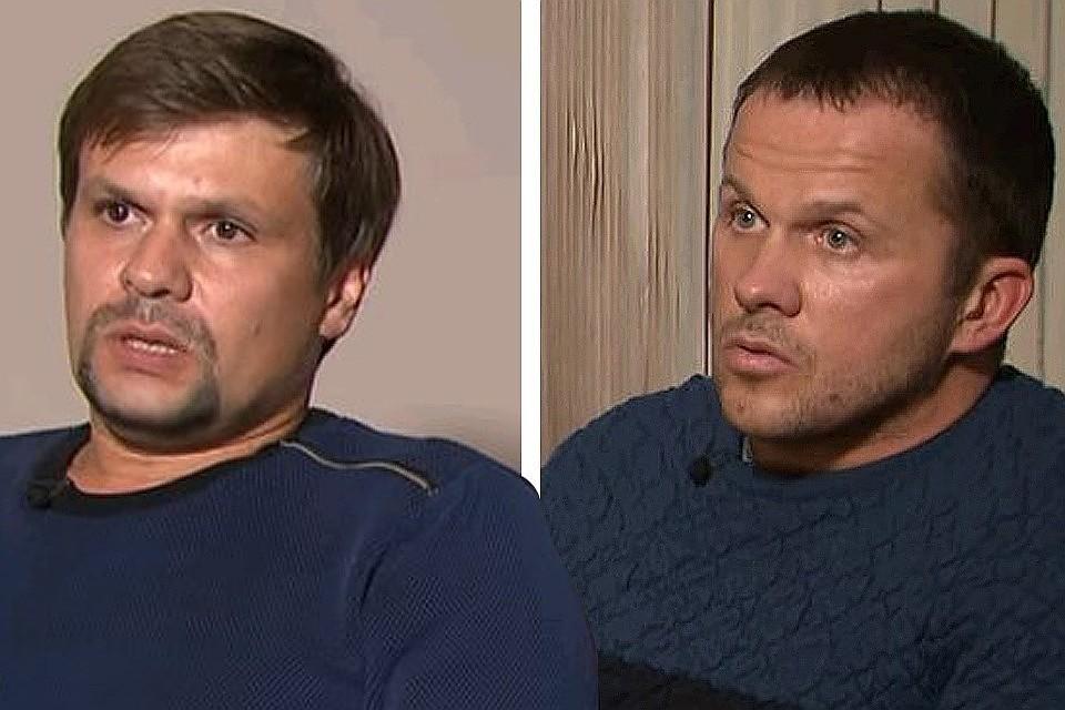 Фигуранты британского расследования в студии Russia Today во время интервью.