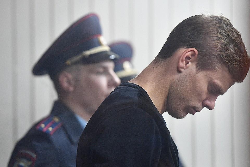 Александр Кокорин во время оглашения вердикта судьи 11 октября 2018 года.
