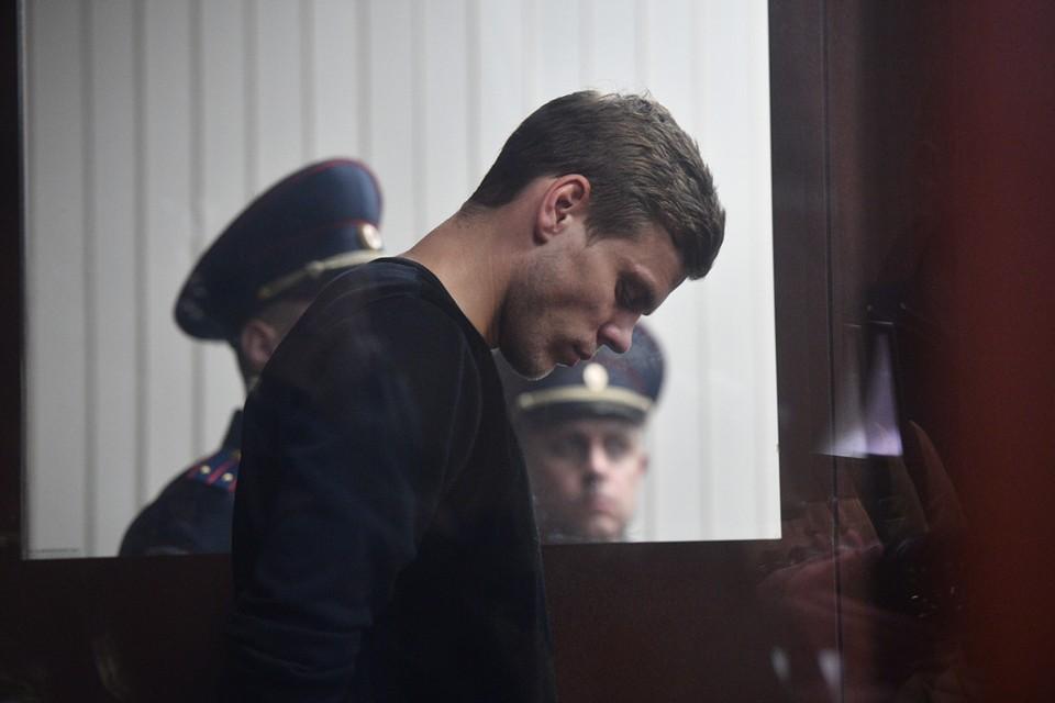 Александр Кокорин на заседании Тверского районного суда,
