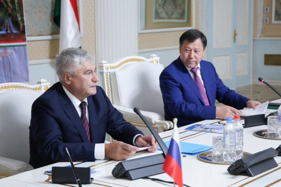 Глава МВД Владимир Колокольцев в Душанбе. ФОТО МВД РФ