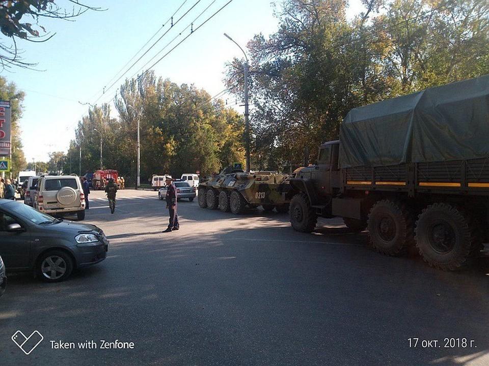 На месте взрыва в Керчи. Фото: предоставлено очевидцем