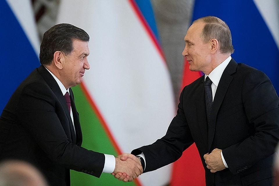Президент Узбекистана Шавкат Мирзиёев и президент России Владимир Путин
