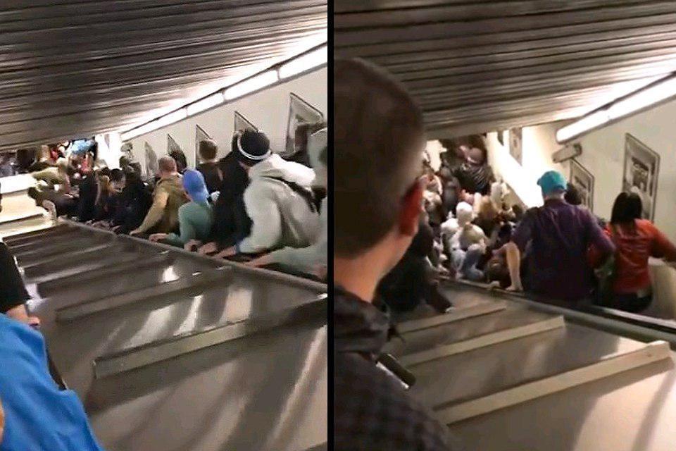 В Риме при обрушении эскалатора пострадали российские болельщики