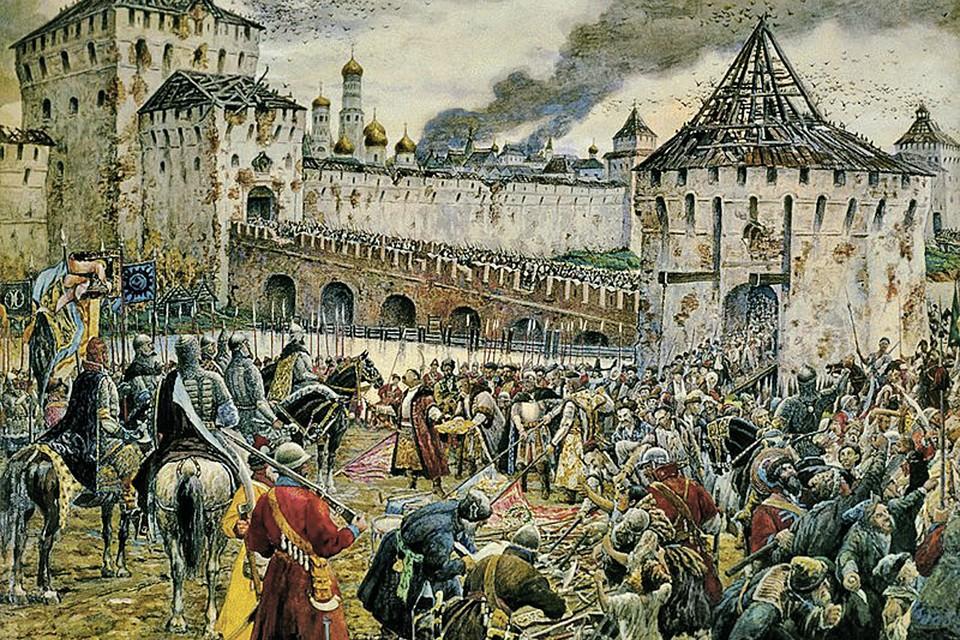 Капитуляция польско-литовского войска 1 ноября 1612 года вызвала такой патриотический подъем, что спустя три века, в 1910 году, русский художник с австрийскими корнями Эрнст Лисснер написал по ее мотивам картину «Изгнание поляков из Кремля».