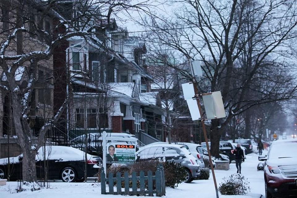 В Канаде прошли обильные снегопады