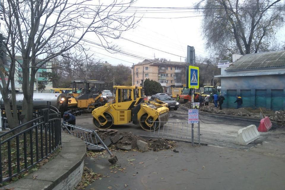 Ремонт дорог в Симферополе вышел на финишную прямую