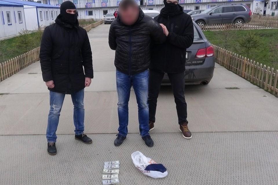 Как только мошенник получил наличность, его задержали. Фото: УВД Минского облисполкома.