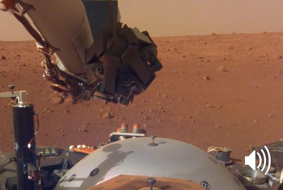 Зонд InSight на поверхности Красной планеты.