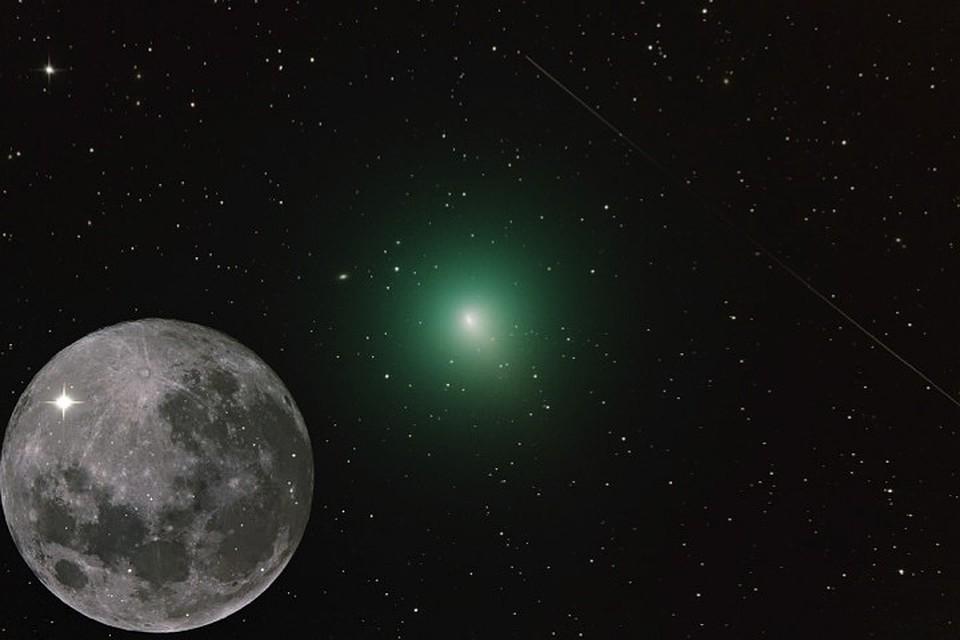К Земле несется зеленый шар кометы Виртанена