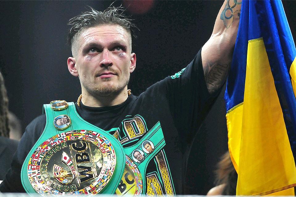 Украинский боксер Александр Усик.