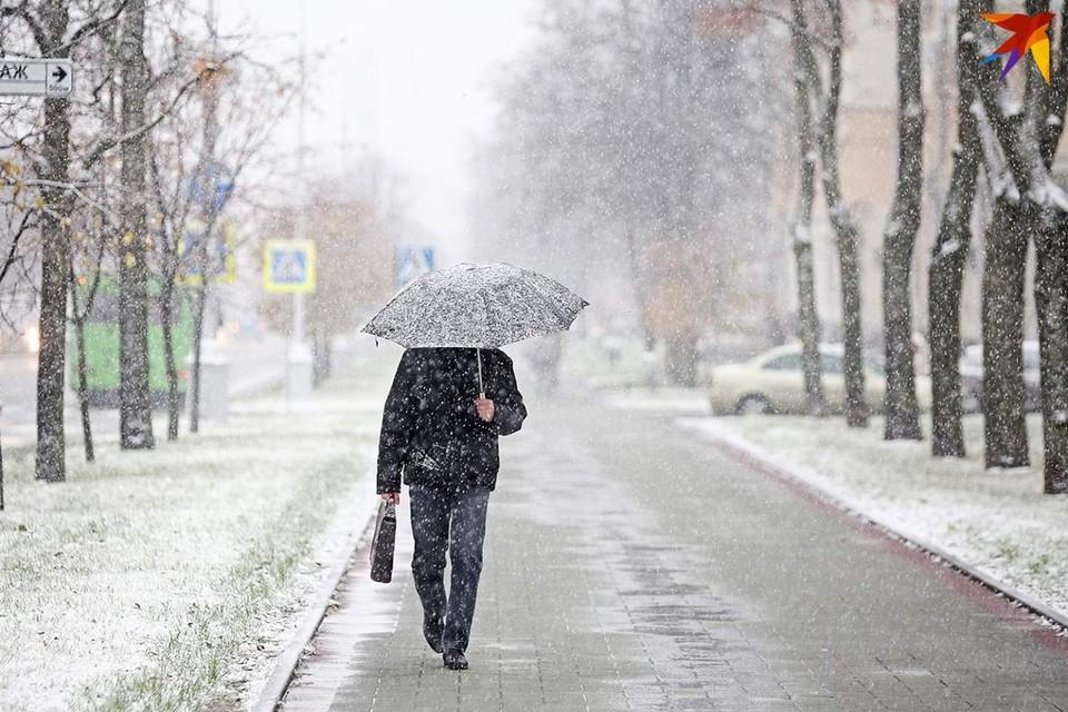 В ближайшие сутки в Беларуси прогнозируют снег.