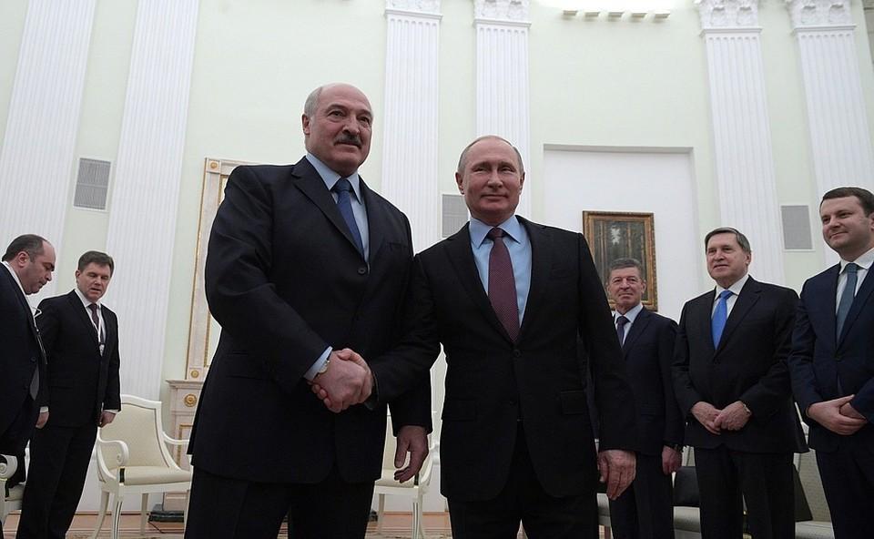 Путин встретился с Лукашенко