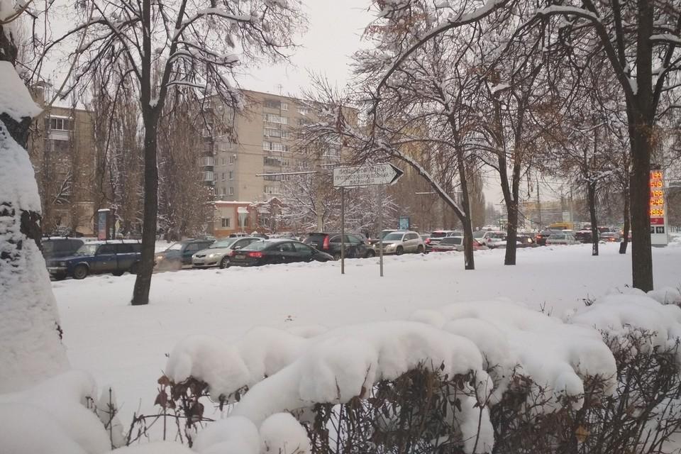 Новогодние пробки в Липецке
