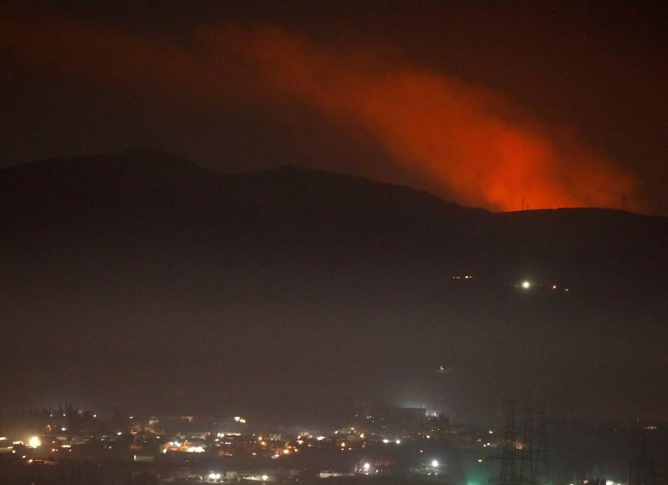Сирийские ПВО сбивают израильские ракеты в небе над Дамаском