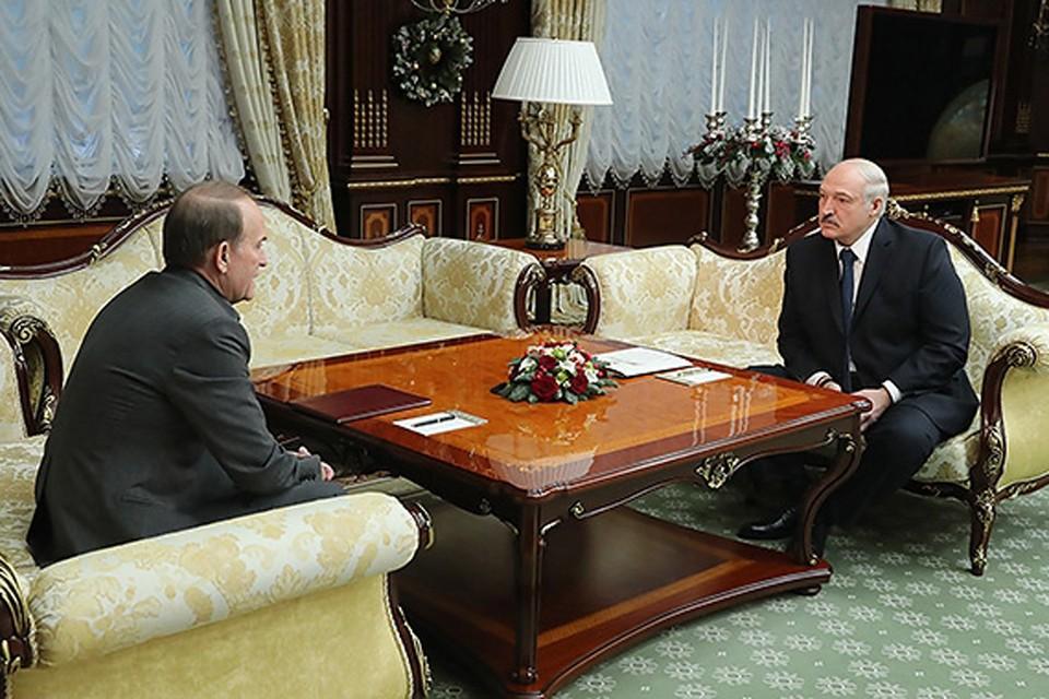 Президент встретился с Виктором Медведчуков. Фото: president.gov.by