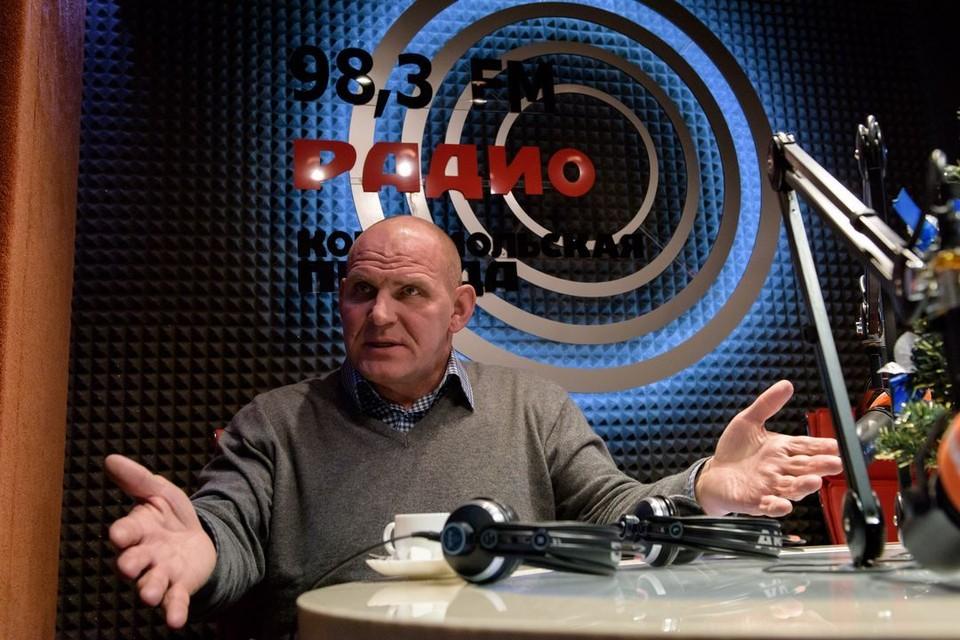 Александр Карелин подвел итоги года в студии Радио «Комсомольская правда» - Новосибирск».
