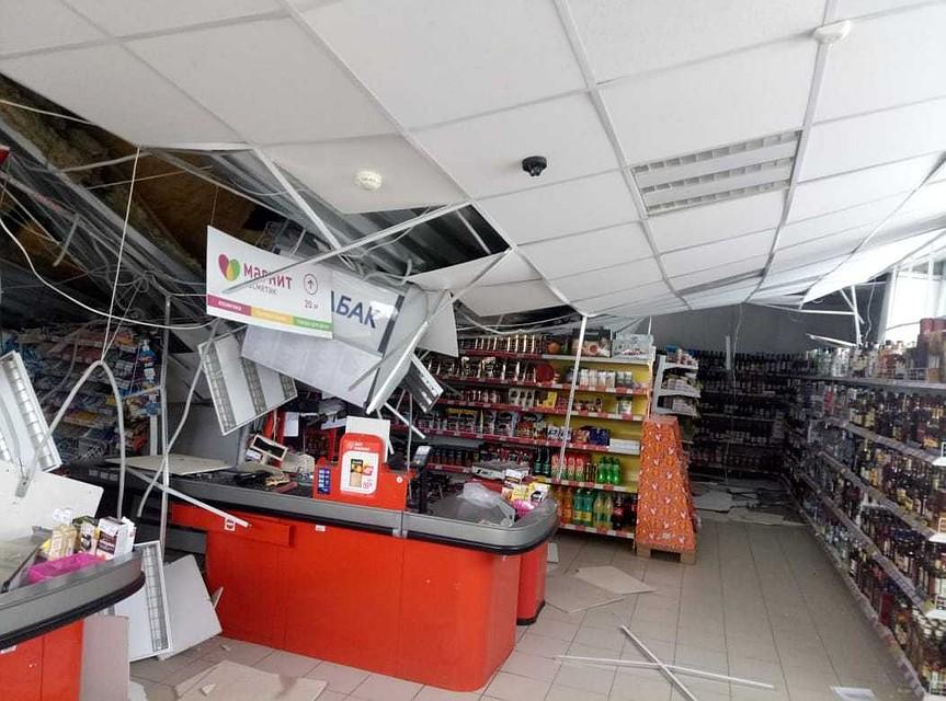a94e5fb0ef7b В Вольске у супермаркета рухнула крыша