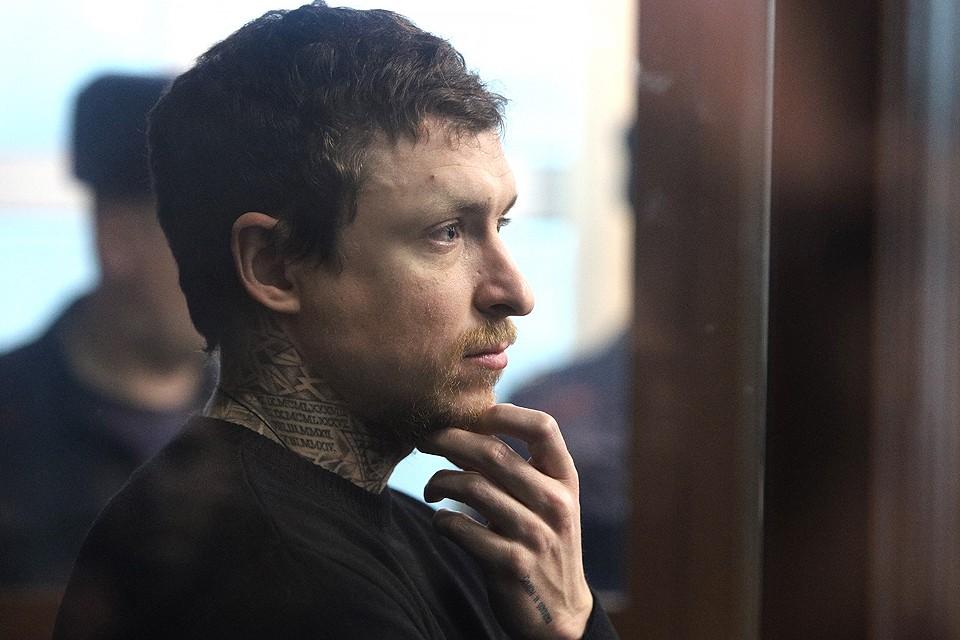 Футболист Павел Мамаев, обвиняемый в хулиганстве по предварительному сговору, в Тверском суде во время рассмотрения ходатайства. Фото Гавриил Григоров/ТАСС