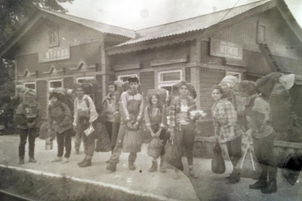 Эта история началась на станции Мурино в Иркутской области. Фото из архива Галины Бапановой