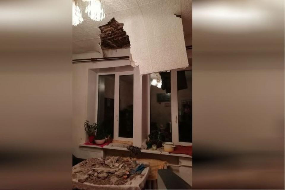 В Самаре в квартире обвалился потолок